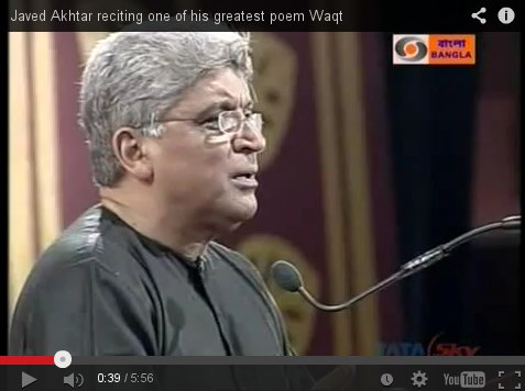 Waqt (Time) - Poetry recitation by Javed Akhtar and Shabana Azmi