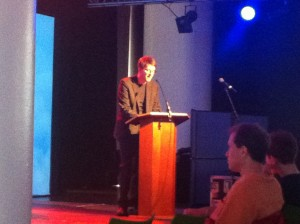 Jan Wagner reciting at Poetry Karoke: UK Special (Poetry Parnassus at London SouthBank Centre)