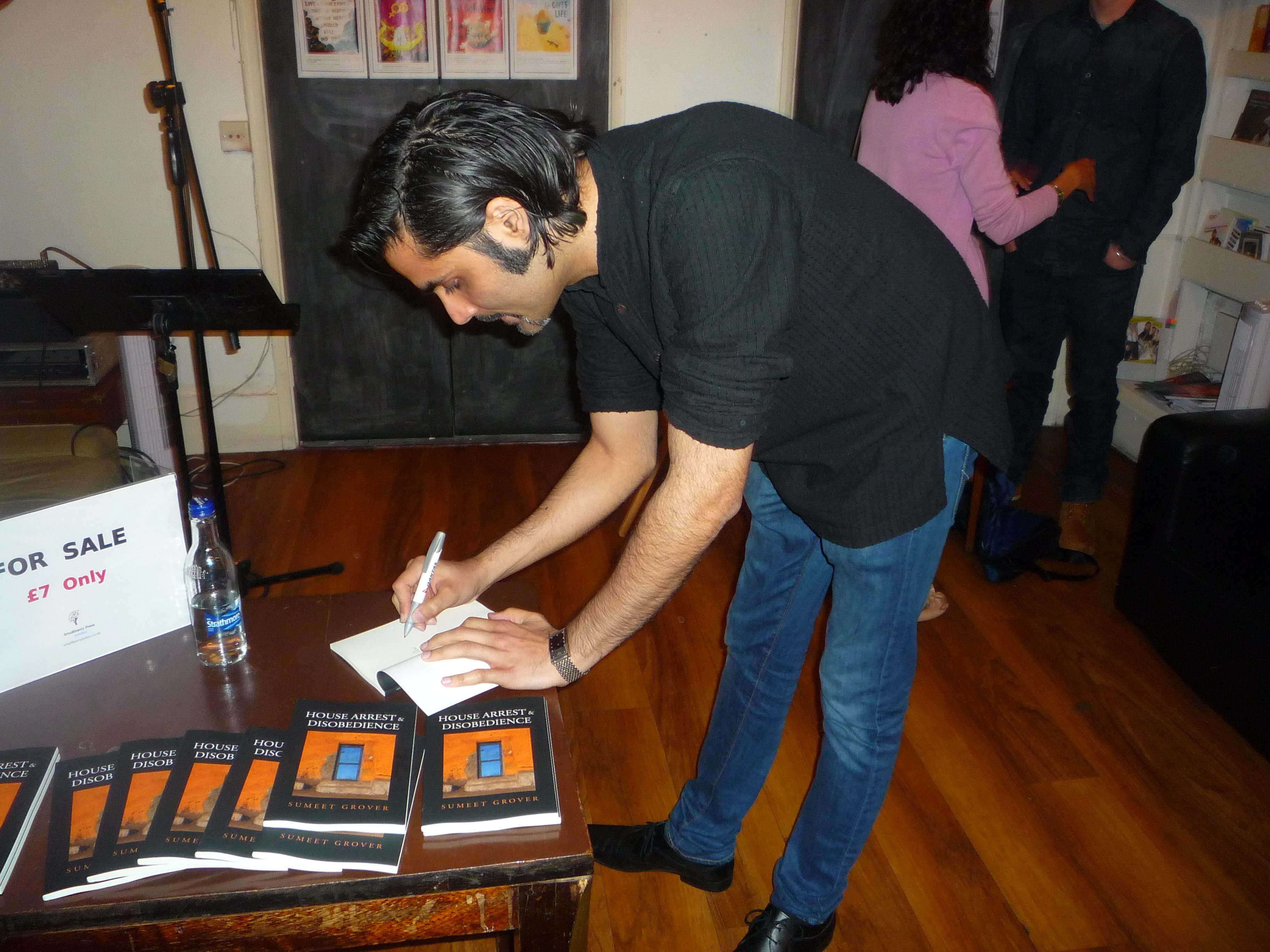 Sumeet Grover at the Launch of House Arrest & Disobedience